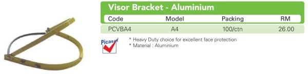 A4 Visor Bracket - Aluminium  Face Shield Equipment HEAD PROTECTION Selangor, Malaysia, Kuala Lumpur (KL), Puchong Supplier, Suppliers, Supply, Supplies | MG HAUS SDN BHD