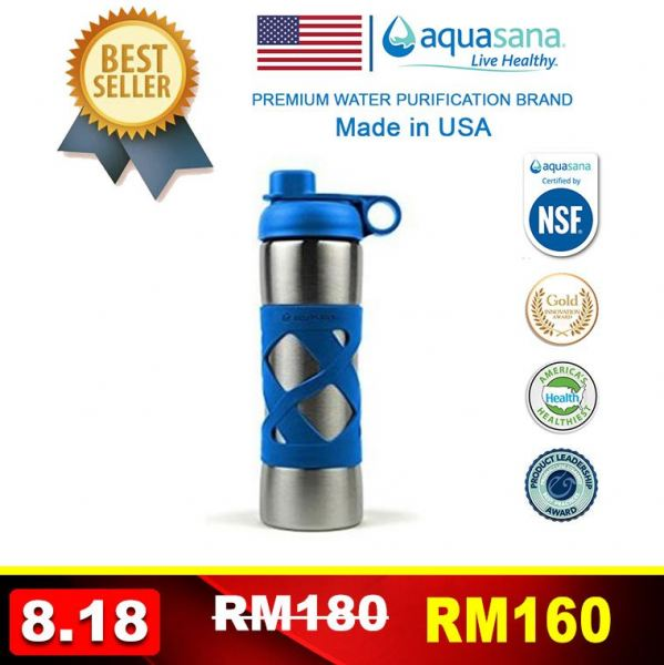 AQUASANA Stainless Steel Insulated Clean Filter Bottle 500ML Instant Hot Dispenser & Others Malaysia, Selangor, Kuala Lumpur (KL), Puchong Distributor, Supplier, Supply, Supplies | Water Shop (M) Sdn Bhd