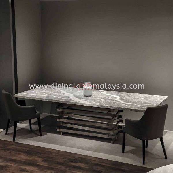 Grey Majestic Dining Table | Grigio Piemonte | 10 Seaters Marble Dining Table Malaysia, Selangor, Kuala Lumpur (KL), Petaling Jaya (PJ) Supplier, Suppliers, Supply, Supplies | DeCasa Marble Sdn Bhd