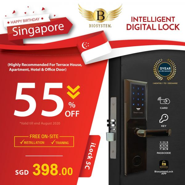 iLock 5C Home / Office Security Singapore Supplier, Supply, Manufacturer | Biosystem Group Pte Ltd
