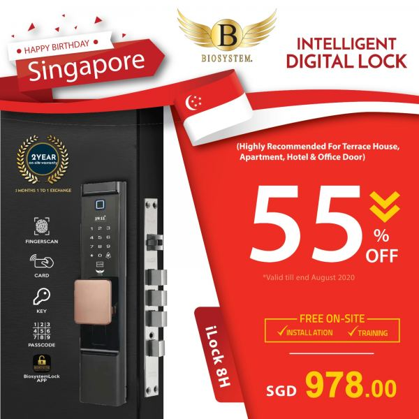 iLock 8H Intelligent Lock Home / Office Security Singapore Supplier, Supply, Manufacturer | Biosystem Group Pte Ltd