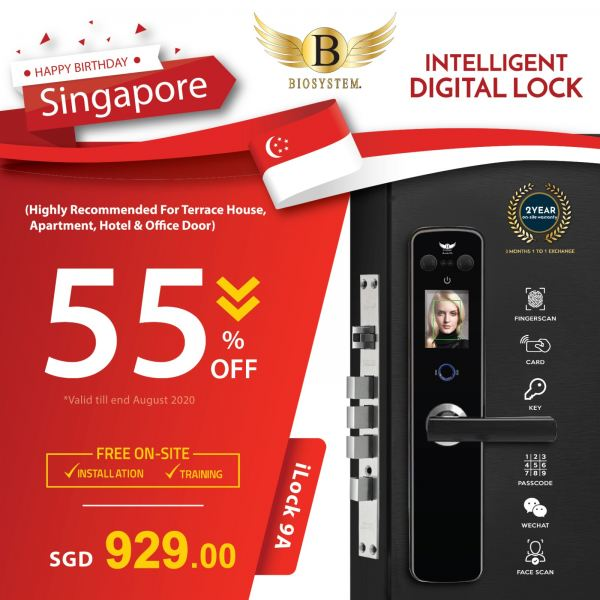 iLock 9A Intelligent Lock Home / Office Security Singapore Supplier, Supply, Manufacturer | Biosystem Group Pte Ltd