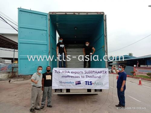 Sending Sleepmaker's hotel mattresses to our commercial client in Thailand using 40FT containers