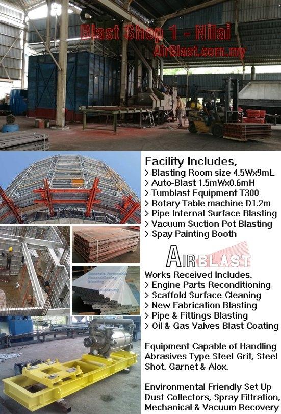 Our Blasting & Painting Shops MAIN SERVICES Malaysia, Negeri Sembilan, Nilai Manufacturer, Supplier, Supply, Supplies | AirBlast (M) Sdn Bhd