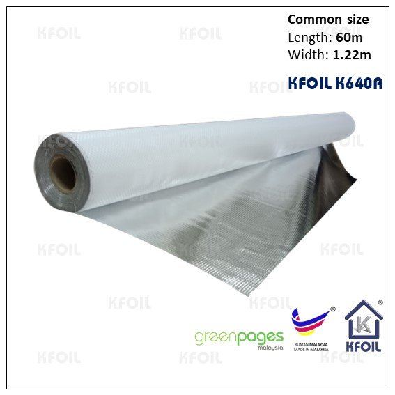 (K640A) Single Sided Reflective Metalize Woven Film Single Sided Woven Foil Penang  | K Foil Insulation (Malaysia) Sdn Bhd