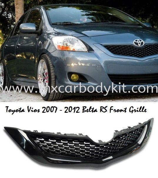 TOYOTA VIOS 2007 - 2012 BELTA RS FRONT GRILLE  VIOS 2007 TOYOTA Johor, Malaysia, Johor Bahru (JB), Masai. Supplier, Suppliers, Supply, Supplies | MX Car Body Kit