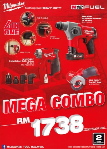 Milwaukee Mega Combo Set Others Penang, Malaysia, Butterworth Supplier, Distributor, Supply, Supplies | Weld Power Technology & Machinery Sdn Bhd