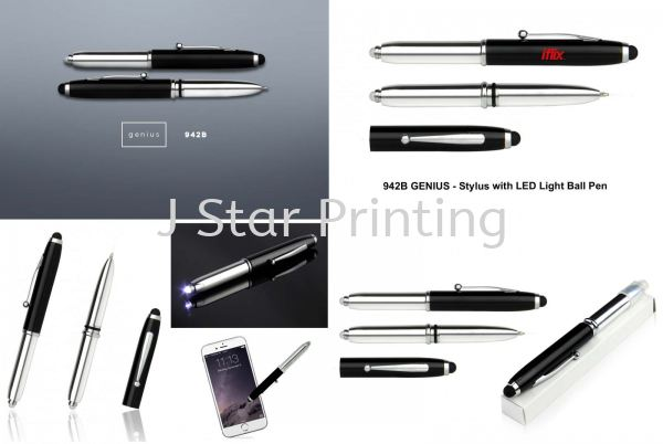 Pen Multi Function Stylus with LED Light Ball Pen 942B Pens Multi-Function Premium Gift Products Puchong, Selangor, Malaysia, Kuala Lumpur (KL) Supplier, Suppliers, Supply, Supplies | J Star Printing