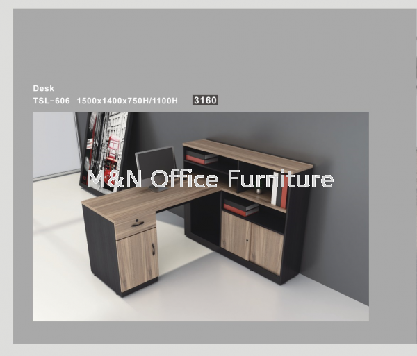 Single Executive Desk With Side Cabinet Or Expandable Workstation - TSL-606 Workstation & Office Partition Series Office Furniture Selangor, Malaysia, Kuala Lumpur (KL), Semenyih Supplier, Suppliers, Supply, Supplies | M & N Furniture Trading Sdn Bhd