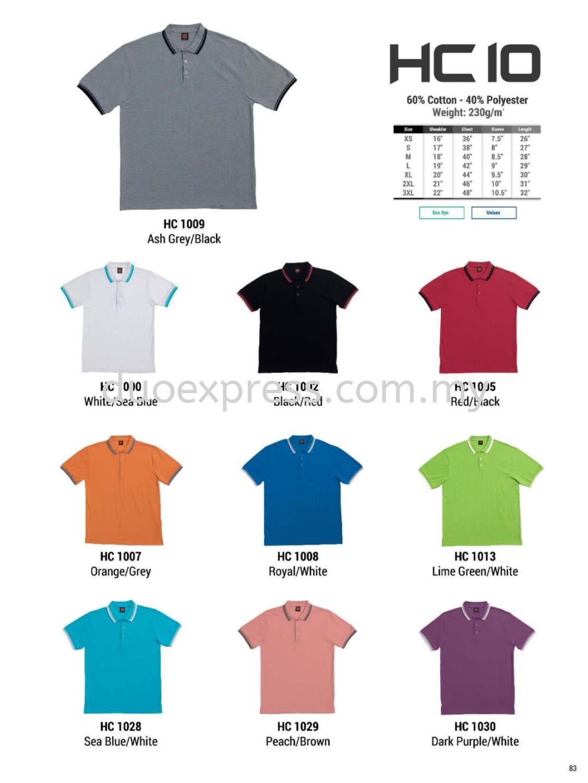Oren HC10 Cotton Polo Tee Unisex