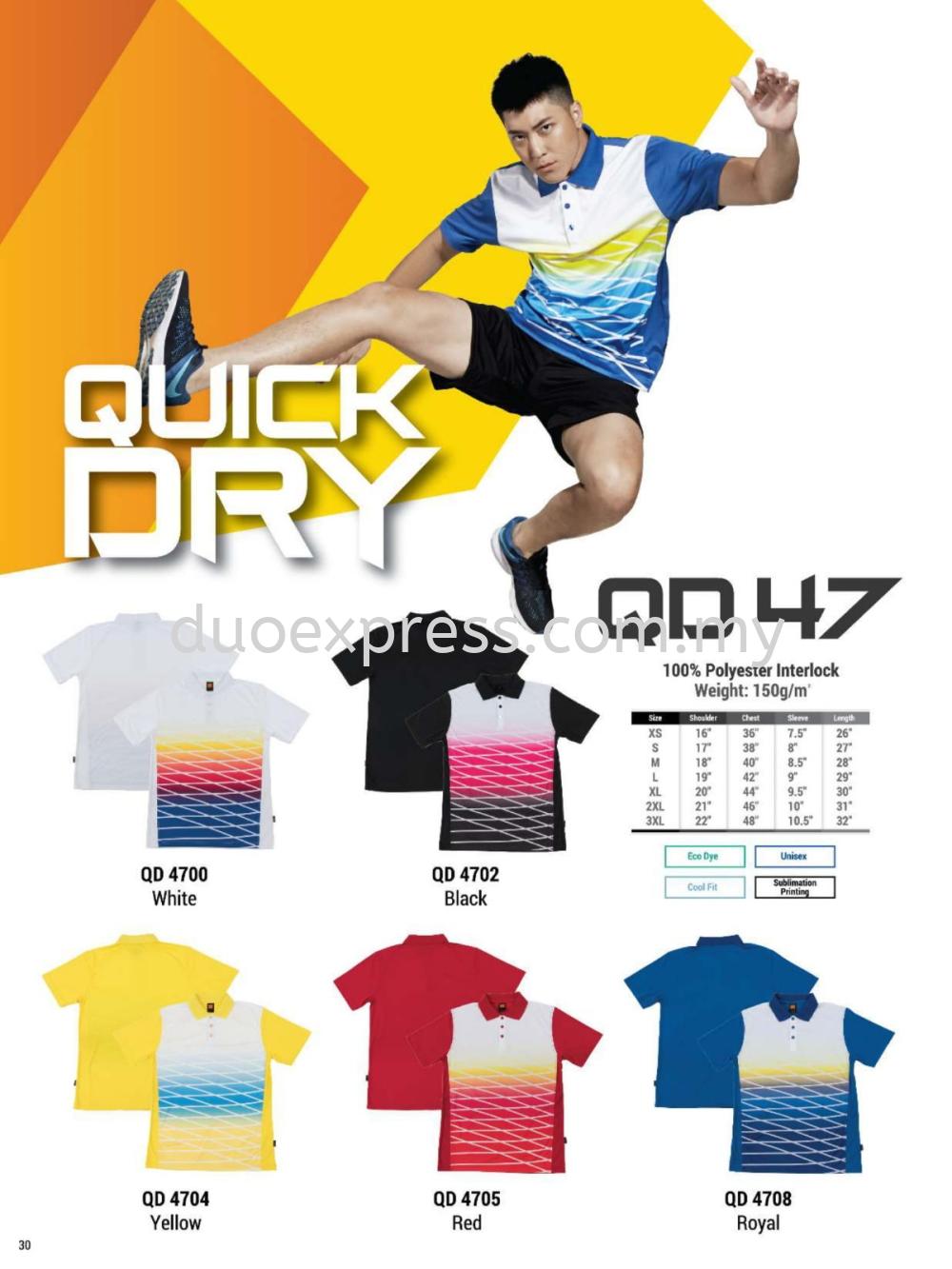 Oren QD47 Collar Microfibre QuickDri Unisex