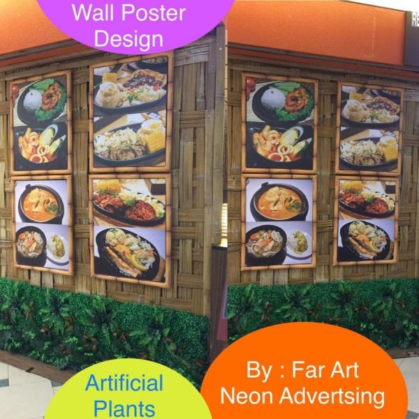 Wall Poster Design/ Artificial Plants Customize Wall Sticker Selangor, Malaysia, Kuala Lumpur (KL), Subang Jaya Manufacturer, Maker, Supplier, Supply   Far Art Neon Advertising