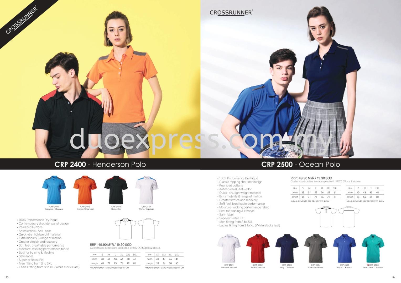 Cross Runner CRP 2400 CRP2500 Collar T Shirt