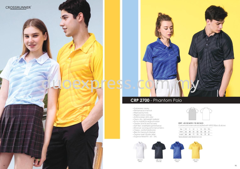 Cross Runner CRP2700 Polo T Shirt