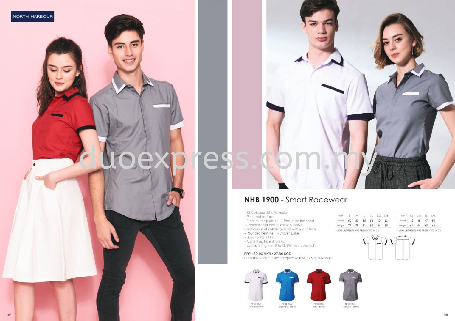 North Harbour NHB1900 Casual and Working Shirt