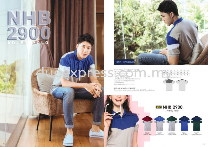 North Harbour NHB 2900 Mix Cotton Collar Polo Shirt