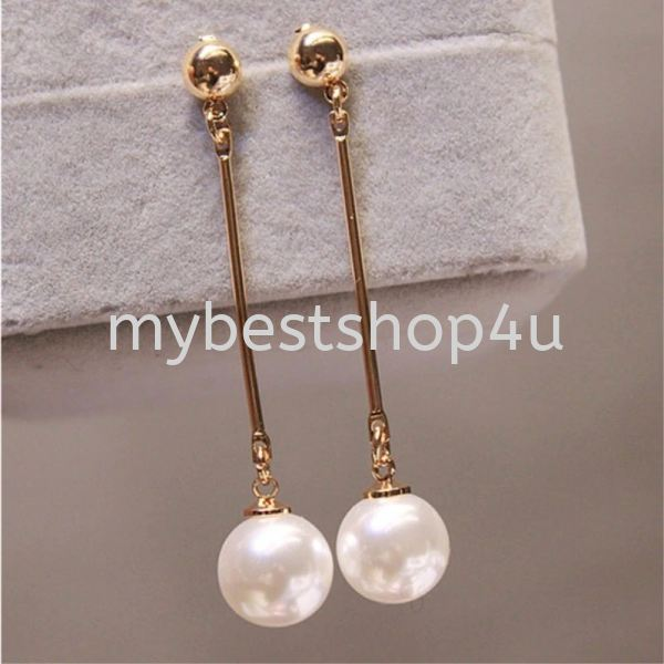 Long Tassel Simulated Pearl Drop Earrings for Women  Korean jewelry  Jewelry and Watches Penang, Malaysia, Bukit Mertajam Supplier, Suppliers, Supply, Supplies | Tien Hai Megah Trading