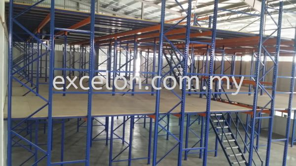 Racking with 2 Tier Platform Racking with Mezzanine Platform Selangor, Malaysia, Kuala Lumpur (KL), Puchong Supplier, Suppliers, Supply, Supplies | Excelon Engineering Solutions