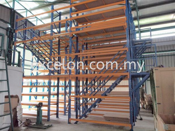 Multi-Tier Storage with G.I.Floor Plank Walkway Racking with Mezzanine Platform Selangor, Malaysia, Kuala Lumpur (KL), Puchong Supplier, Suppliers, Supply, Supplies | Excelon Engineering Solutions