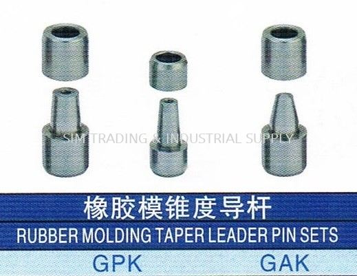 Rubber Molding Taper Leader Pin Sets PLASTIC MOLD ACCESSORIES MOULD & DIES ACCESSORIES Johor, Malaysia, Batu Pahat Supplier, Suppliers, Supply, Supplies   SIM TRADING & INDUSTRIAL SUPPLY