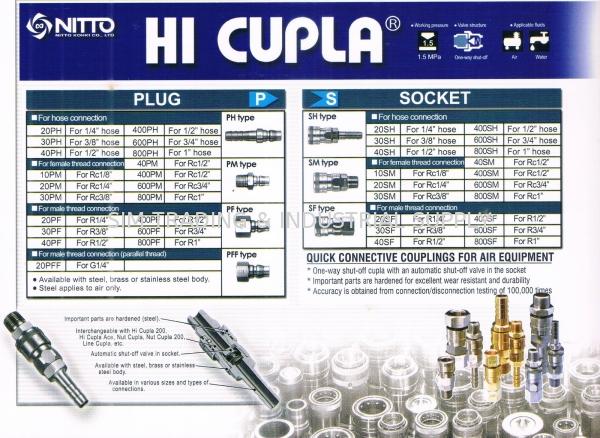 NITTO HI CUPLA Plug _ Socket PLUG & SOCKET NITTO HI CUPLA AIR HOSE Johor, Malaysia, Batu Pahat Supplier, Suppliers, Supply, Supplies | SIM TRADING & INDUSTRIAL SUPPLY