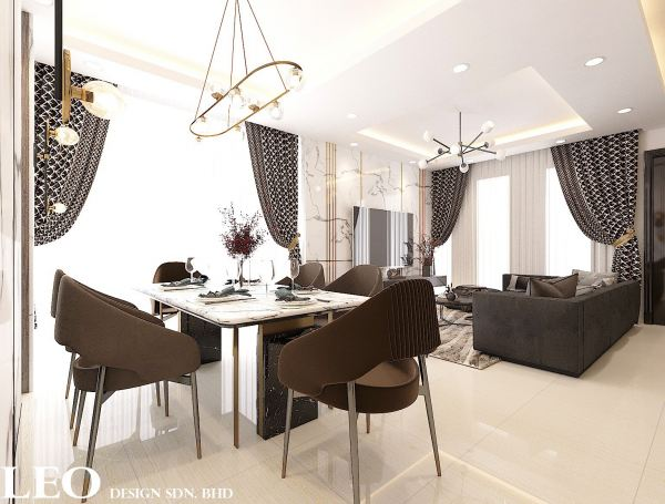 Dining Area Design Dining Area Design Kangkar Pulai, Johor Bahru(JB), Skudai Design, Renovation   Leo Design Sdn Bhd