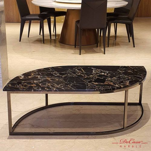Portoro Gold | Marble Coffee Table (Leaf Shape) | Cash & Carry