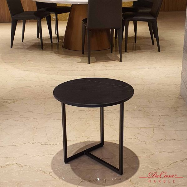 St Laurent | Round Marble Side Table (matt-finished) | Cash & Carry Marble Coffee Table CLEARANCE ITEM Selangor, Kuala Lumpur (KL), Malaysia Supplier, Suppliers, Supply, Supplies | DeCasa Marble Sdn Bhd