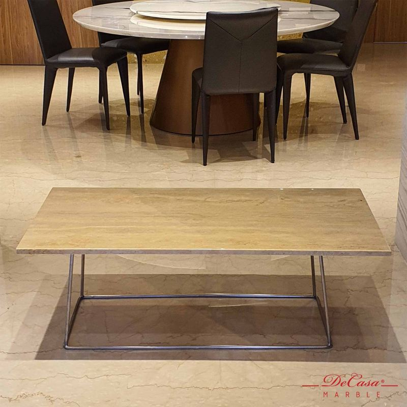 Blue Travertine | Marble Coffee Table | Cash & Carry