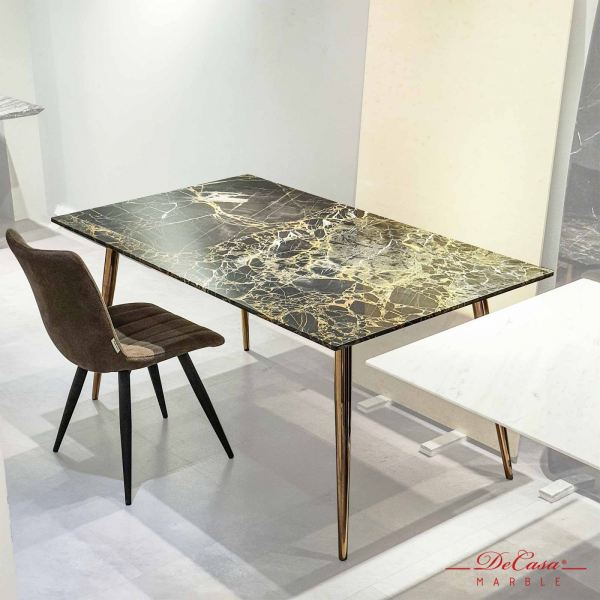 Portoro Gold   China   6 seaters   Table Only (non-coat) Rectangular Marble Dining Table CLEARANCE ITEM Selangor, Kuala Lumpur (KL), Malaysia Supplier, Suppliers, Supply, Supplies   DeCasa Marble Sdn Bhd
