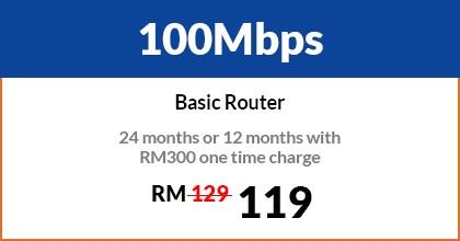 100Mbps Business City Broadband Malaysia, Kuala Lumpur (KL), Selangor, Bukit Jalil Package   12 EFFICIENT ENTERPRISE