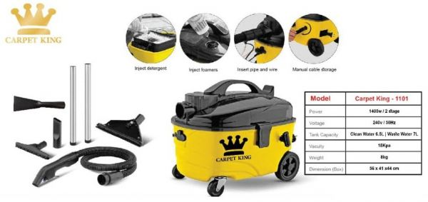CARPET KING - 1101 VACCUM CLEANER CLEANING EQUIPMENT Selangor, Klang, Malaysia, Kuala Lumpur (KL) Supplier, Suppliers, Supply, Supplies | Meng Fatt Chain Saw & Machinery Service