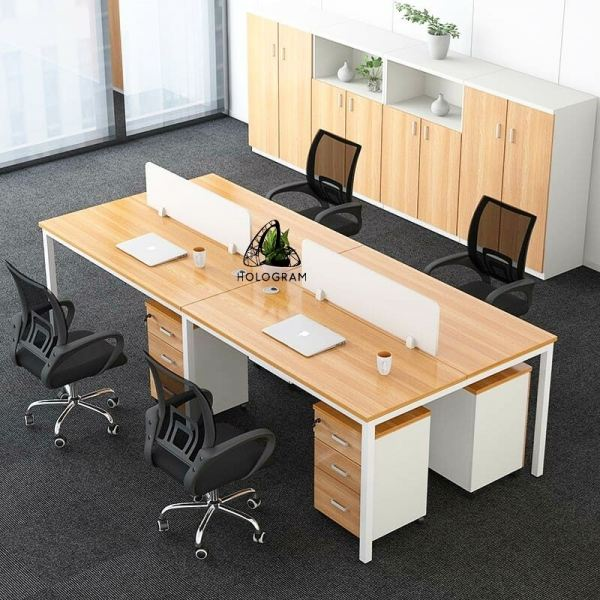 HLG_2020 4 PAX WORKSTATION WORKSTATION SERIES Office Working Table Office Furniture Johor Bahru (JB), Malaysia, Molek Supplier, Suppliers, Supply, Supplies | Hologram Furniture Sdn Bhd
