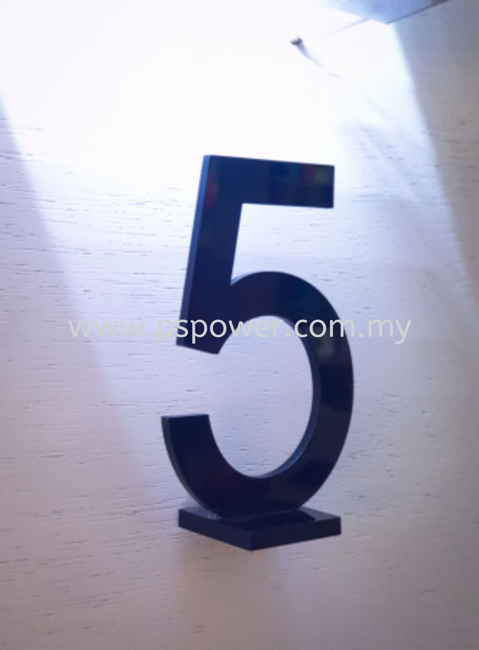 Laser Cut on Acrylic - Door Plate Number