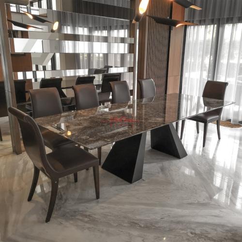 Grey Majestic Dining Table | Grey Emperador | 10 Seaters