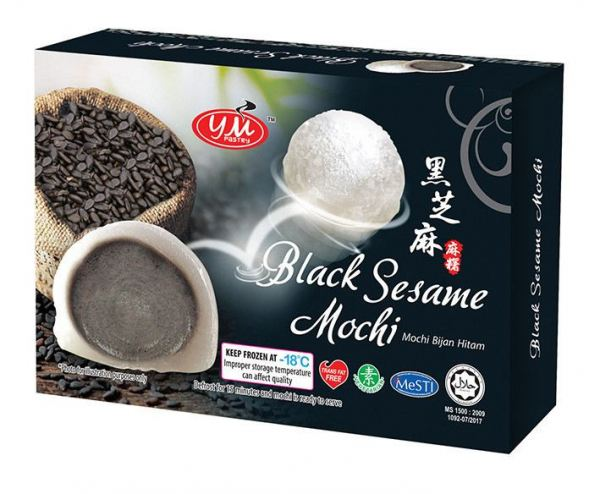 Black Sesame 3D Box Mochi Malaysia, Johor, Kluang Supplier, Manufacturer, Supply, Supplies | YM PASTRY MANUFACTURING SDN BHD