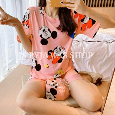 MILK SILK SHORT SLEEVE SHORT PANT SLEEPWEAR
