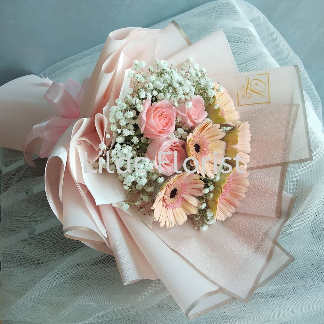 Hb 011 Hand Bouquet Selangor Malaysia Kuala Lumpur Kl Puchong Supplier Delivery Supply Supplies Lilac