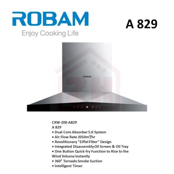 ROBAM Cooker Hood A 829 ROBAM COOKER HOOD COOKER HOOD KITCHEN APPLIANCES Johor Bahru (JB), Kulai, Malaysia Supplier, Suppliers, Supply, Supplies | Zhin Heng Hardware & Trading Sdn Bhd