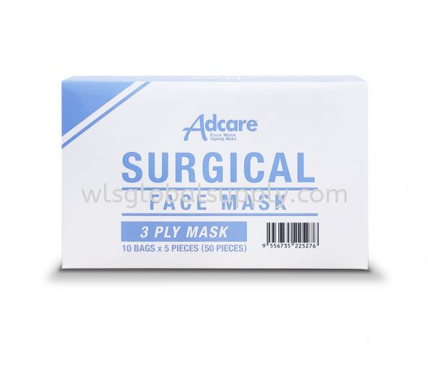 Adcare Surgical Face Mask 3PLY (50PCS) Adcare Face Mask Adcare Malaysia, Selangor, Kuala Lumpur (KL), Balakong Manufacturer, Supplier, Supply, Supplies   WLS Global Supply Sdn Bhd