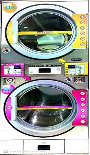 PRIMUS T1313 COIN TUMBLE DRYER Used Machine 2014 - 2017 Malaysia, Selangor, Kuala Lumpur (KL) Distributor, Supplier, Supply, Supplies | TM Laundry Sdn Bhd