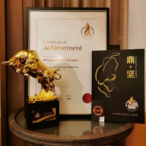 Kitchen Story Sdn.Bhd. has been awarded the Golden Bull award for Emerging SME in 2020