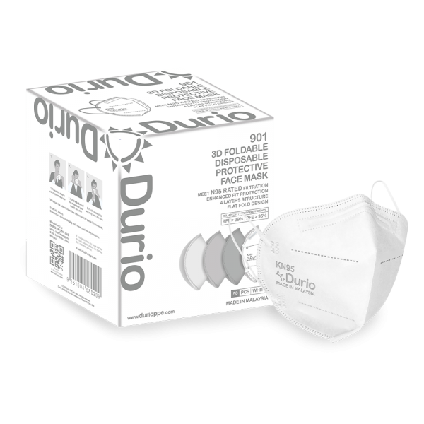 Durio 901 3D Foldable Protective Face Mask Respirator Face Mask Malaysia, Johor Bahru (JB) Manufacturer, Supplier, Supply, Supplies | Durio PPE Sdn Bhd