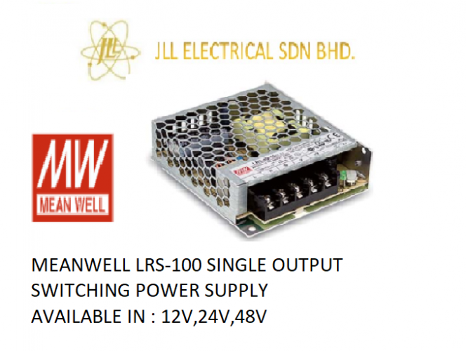 MEANWELL LRS-100 12V 8.5AMP SINGLE OUTPUT SWITCHING POWER SUPPLY