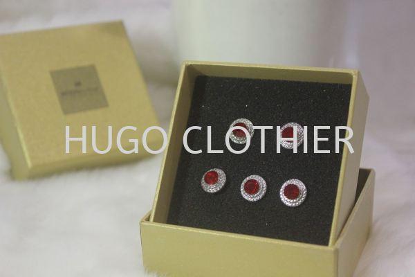 Round Red Button with Silver Border Buttons Kuala Lumpur (KL), Malaysia, Selangor, Wangsa Maju Supplier, Suppliers, Supply, Supplies | HUGOclothier