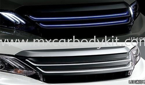 TOYOTA HARRIER 2014 M TYPE FRONT GRILLE CHROME W/BLUE LED HARRIER 2014 TOYOTA Johor, Malaysia, Johor Bahru (JB), Masai. Supplier, Suppliers, Supply, Supplies | MX Car Body Kit