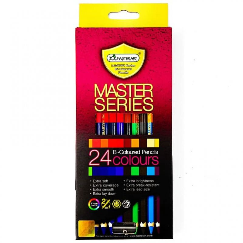 MASTER SERIES BI-COLOURED PENCILS 24 COLOURS