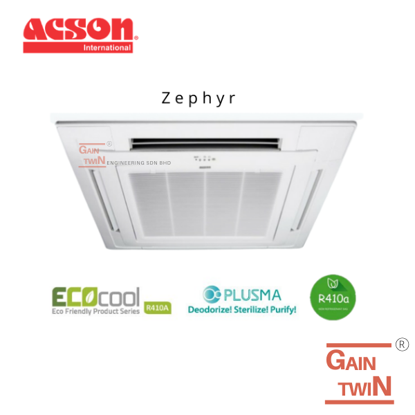 Acson 1.5hp Ceiling Cassette Non-Inverter R410A Ceiling Cassette Series - Non Inverter Acson Commercial Selangor, Malaysia, Kuala Lumpur (KL), Kajang Supplier, Installation, Supply, Supplies | Gain Twin Engineering Sdn Bhd