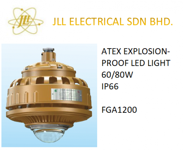 EXPLOSION PROOF ATEX LED LIGHT 60/80W FGS1200. OFF SHORE PROFICIENT LED LIGHTS