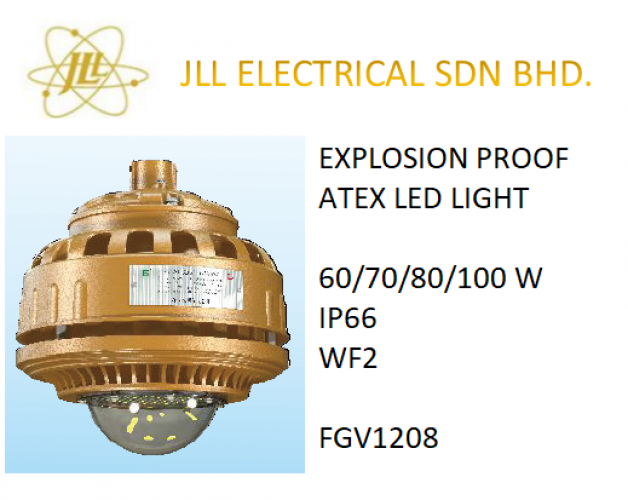 EXPLOSION PROOF ATEX LED LIGHT 60/70/80/100W FGV1208. OFF SHORE PROFICIENTLED LIGHT